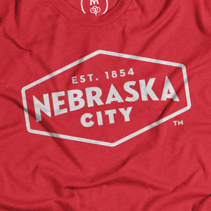 Nebraska City t-shirt with logo print