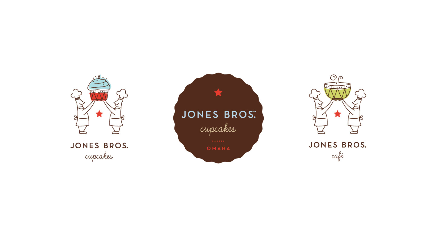 Assorted Jones Bros. Cupcakes logo applications