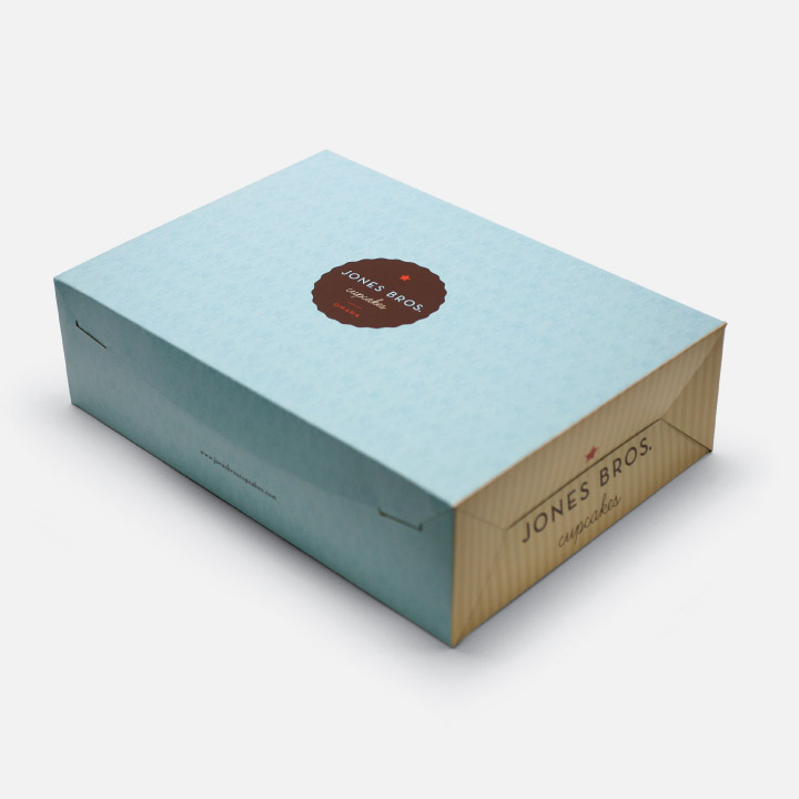 Jones Bros. Cupcakes packaging
