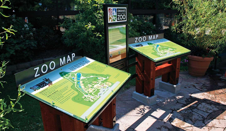 Omaha's Henry Doorly Zoo Map Kiosk