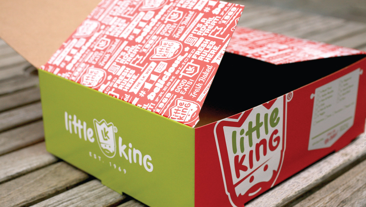 Little King to go packaging design