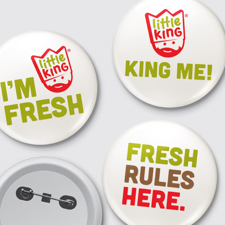 Little King buttons