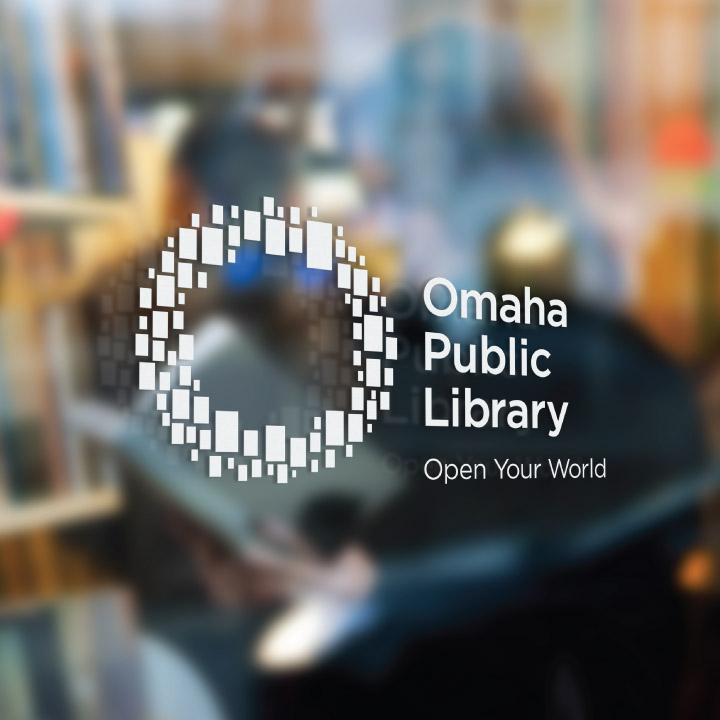 Omaha Public Library window graphic