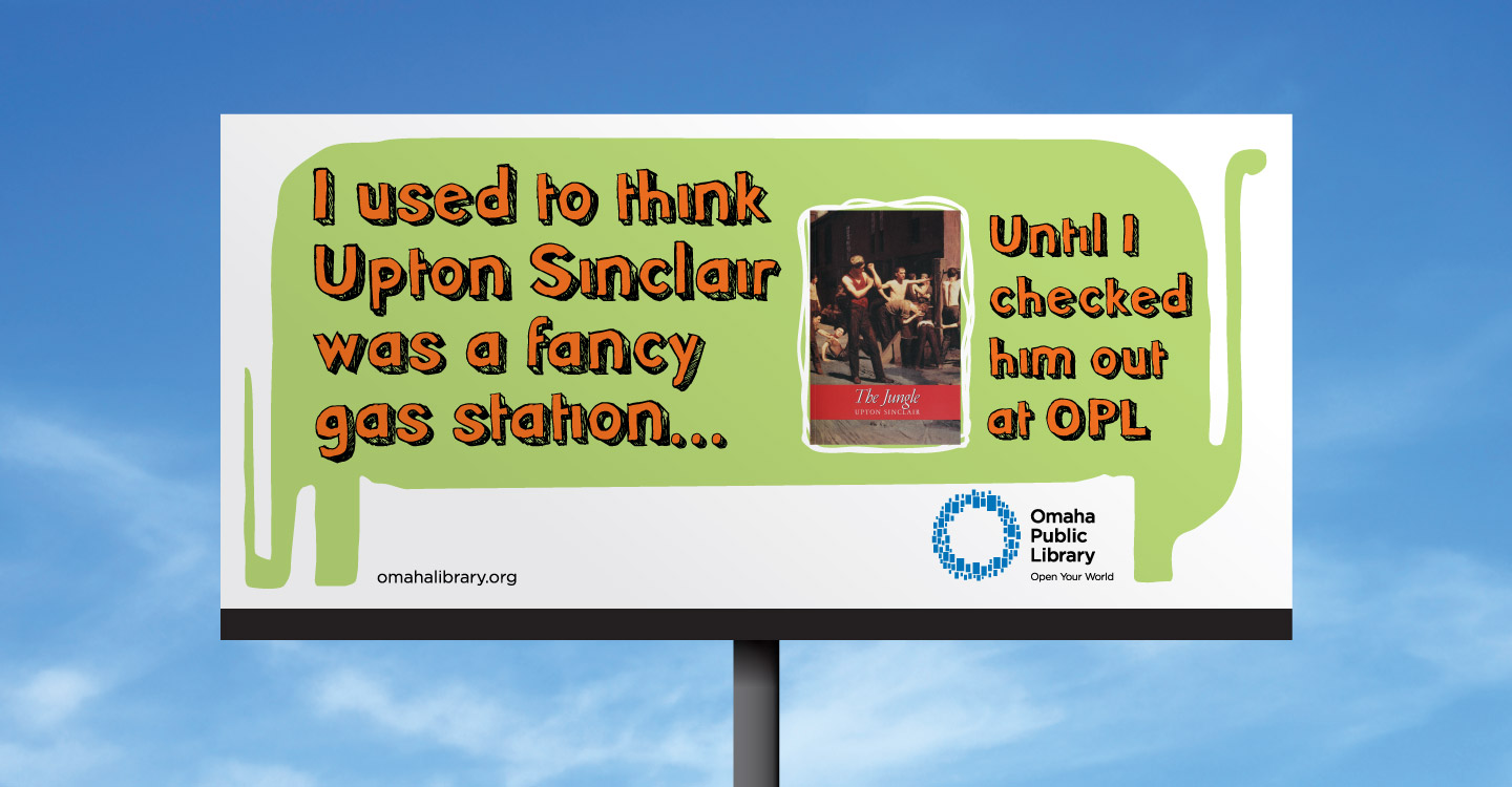 Omaha Public Library billboard