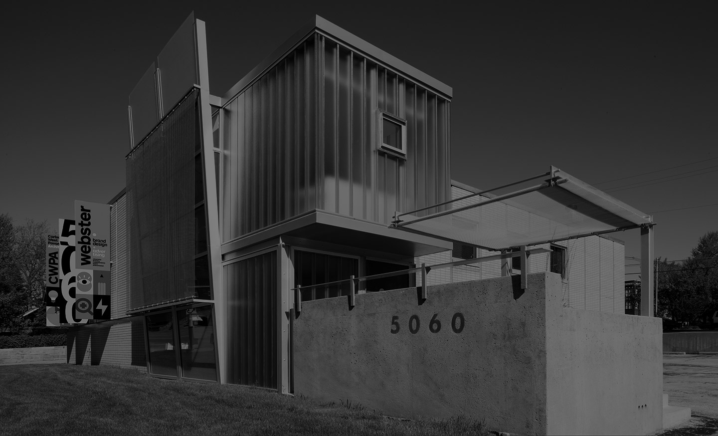 A photograph of the Webster offices at 5060 Dodge St in Omaha