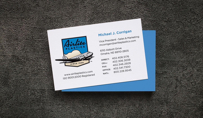airlite plastics business card