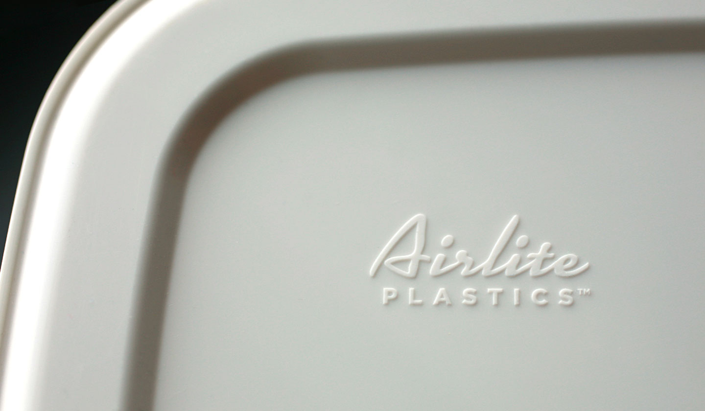 base of an airlite plastics container
