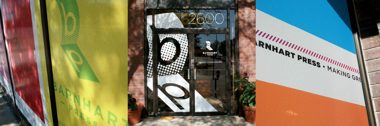 barnhart press window graphics montage
