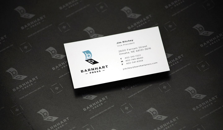 barnhart press business card
