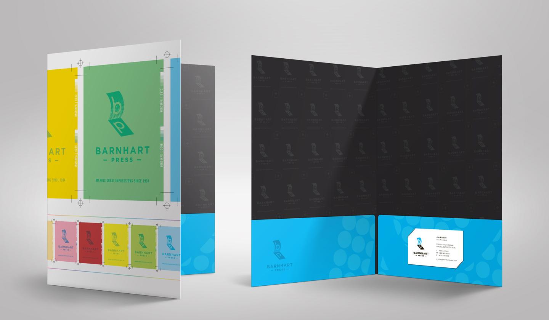 barnhart press pocket folder