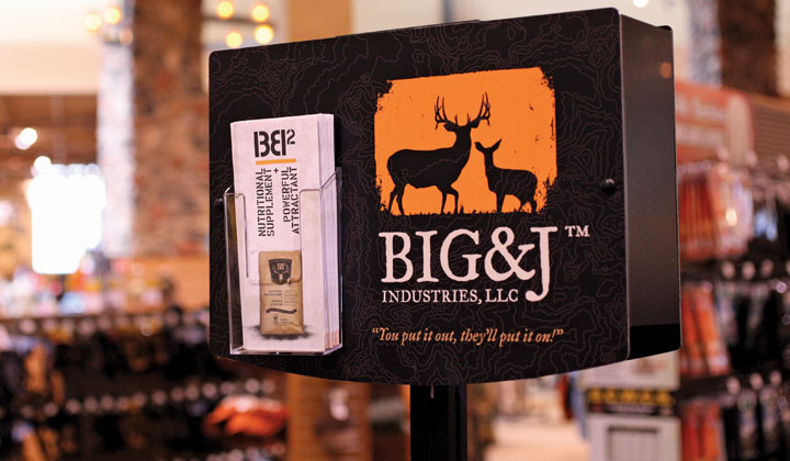Big and J Industries display monitor back