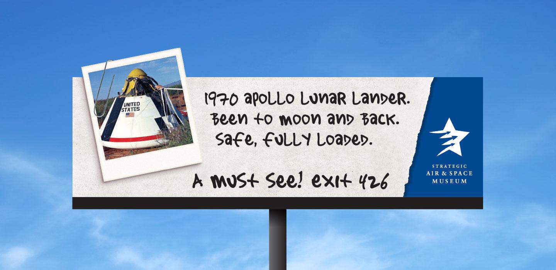 Strategic Air and Space Museum billboard apollo