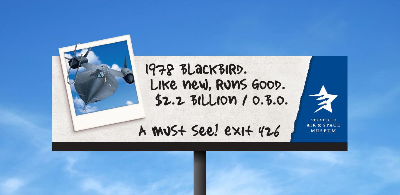 Strategic Air and Space Museum billboard blackbird