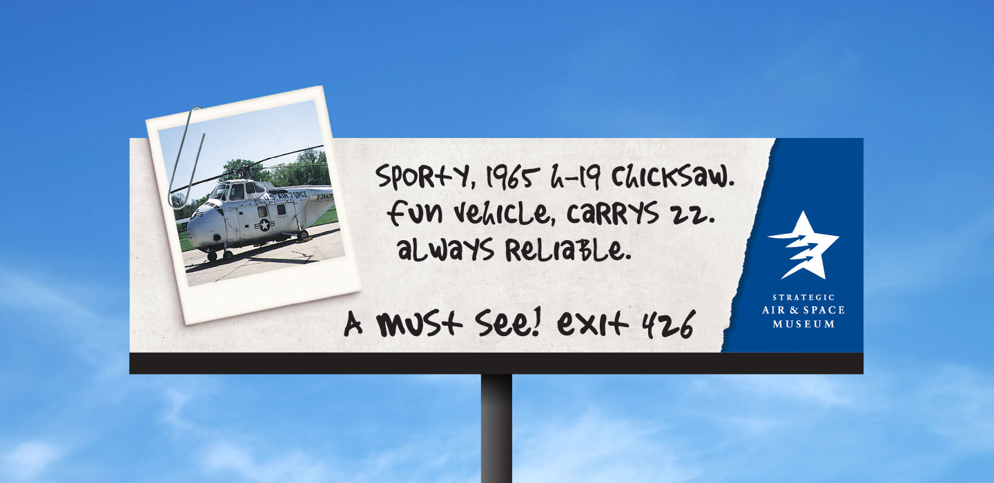 Strategic Air and Space Museum billboard chicksaw