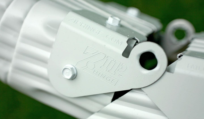 Zip Hinge Close-up Detail Shot