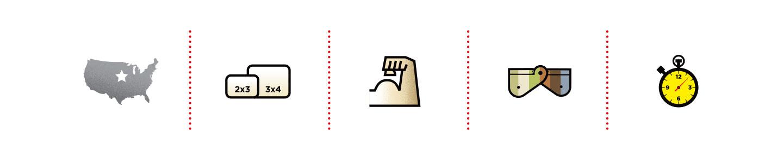 Zip Hinge icons