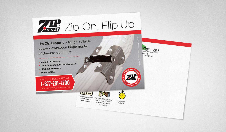 Zip Hinge postcard