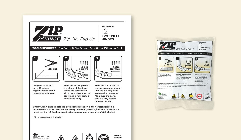 Zip Hinge Retail Bag