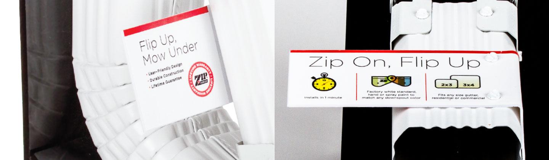 Zip Hinge retail display detail
