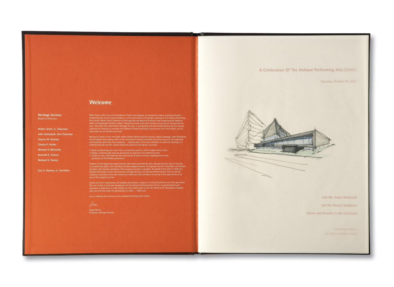 Holland Performing Arts Commemorative Book