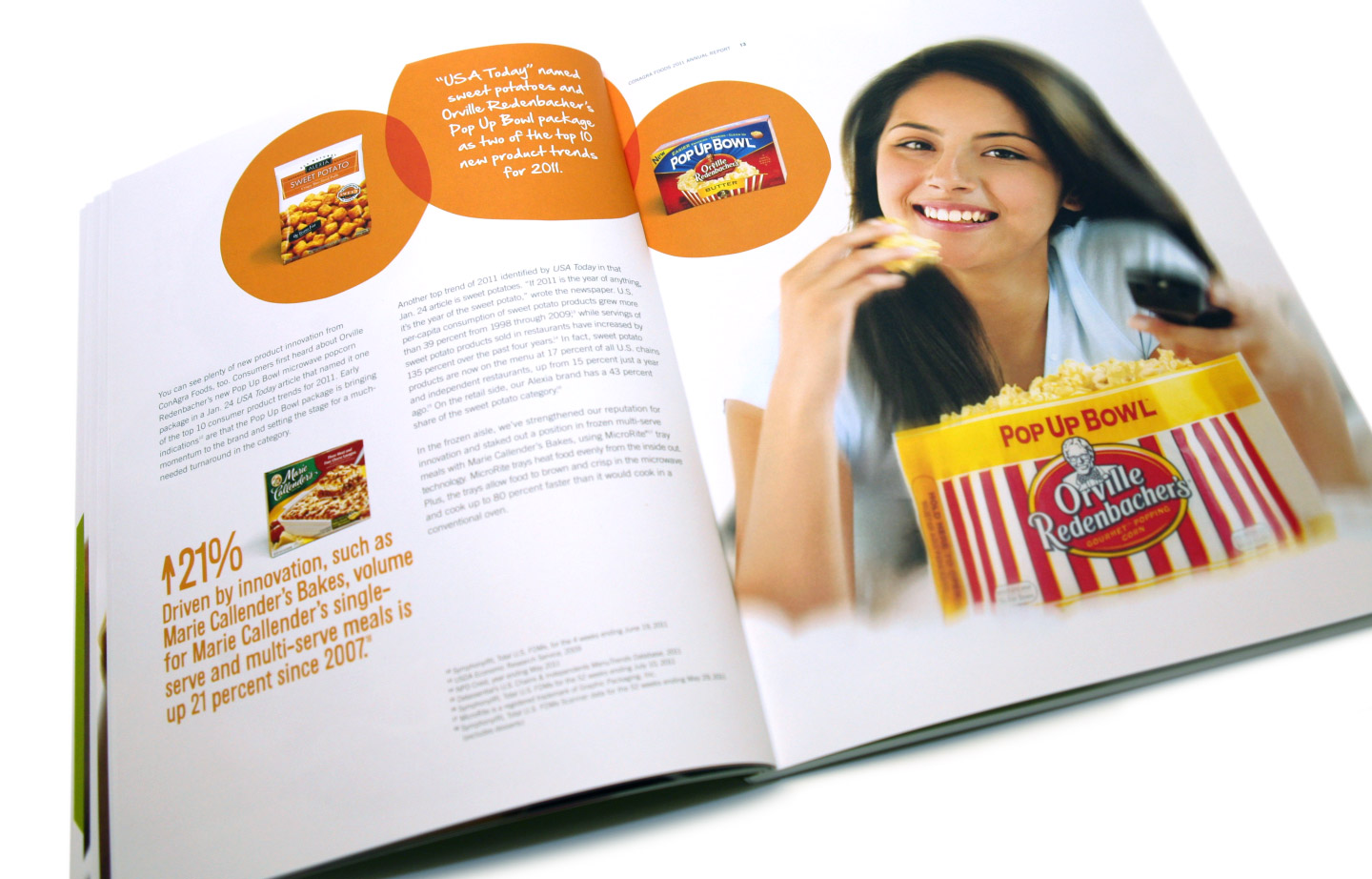 Annual Report design for ConAgra