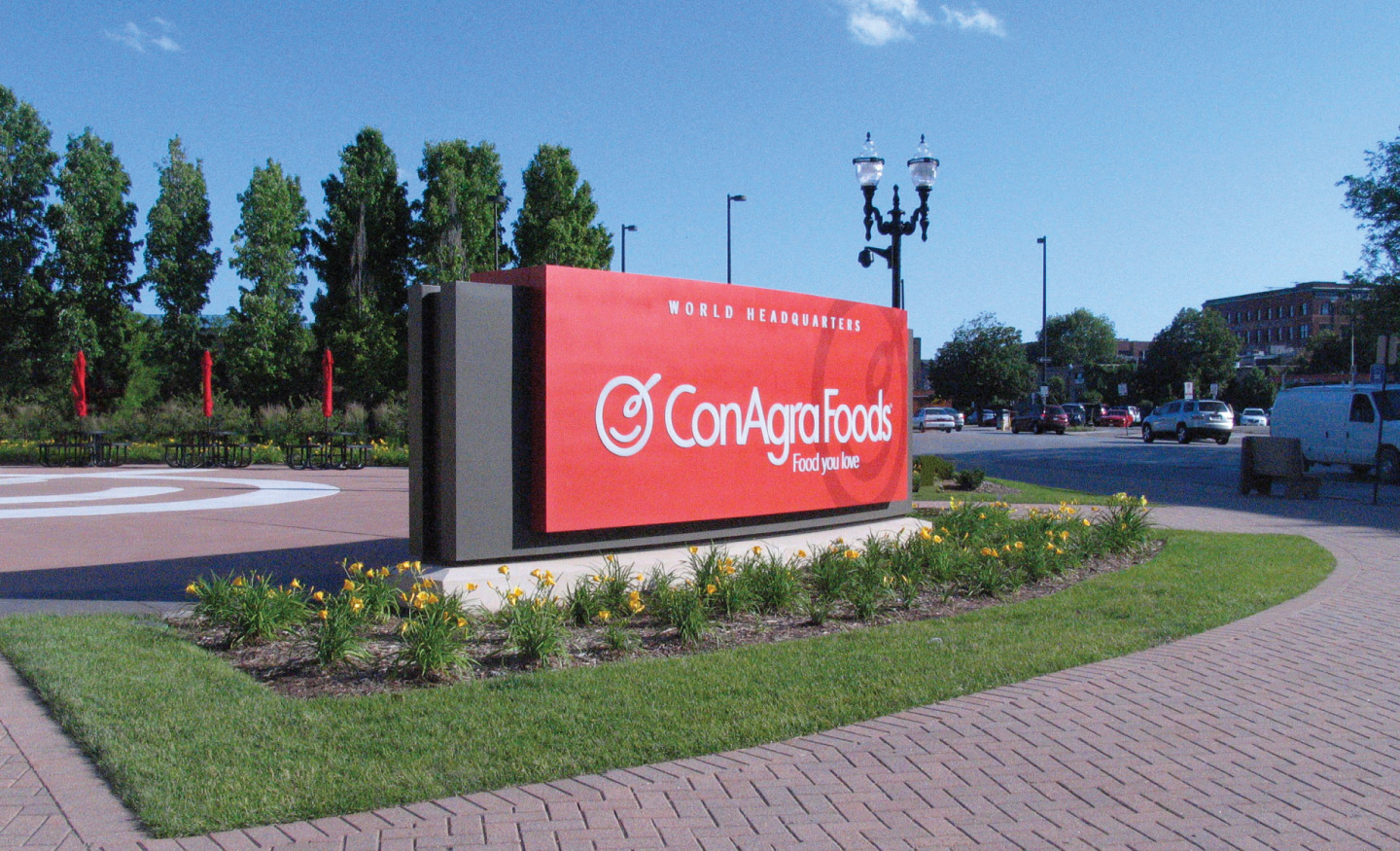 Main entrance outdoor signage for ConAgra Foods World Headquarters
