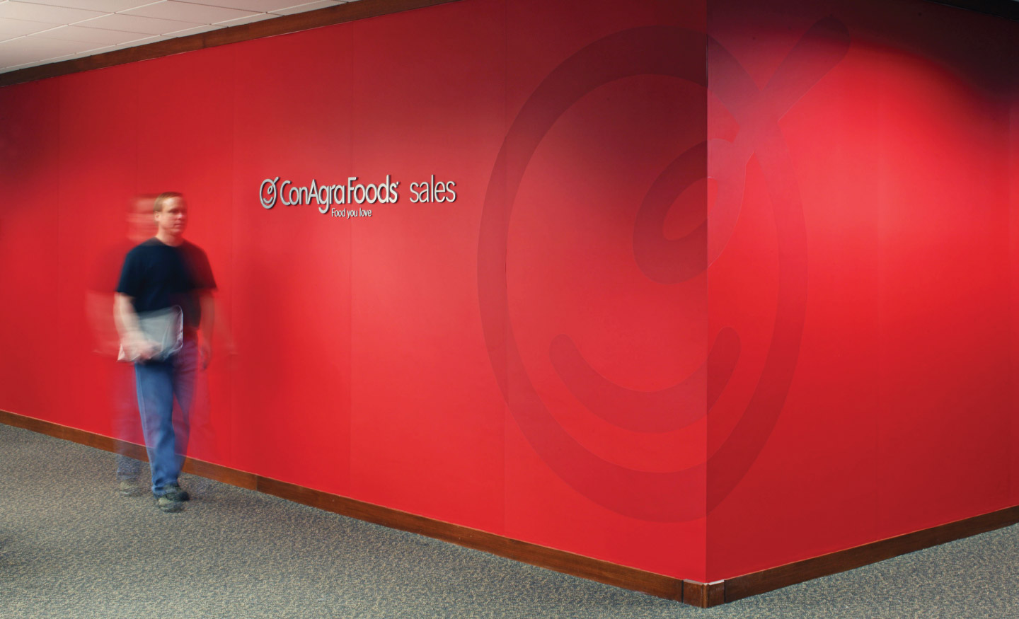 Internal corporate design and signage for ConAgra headquarters
