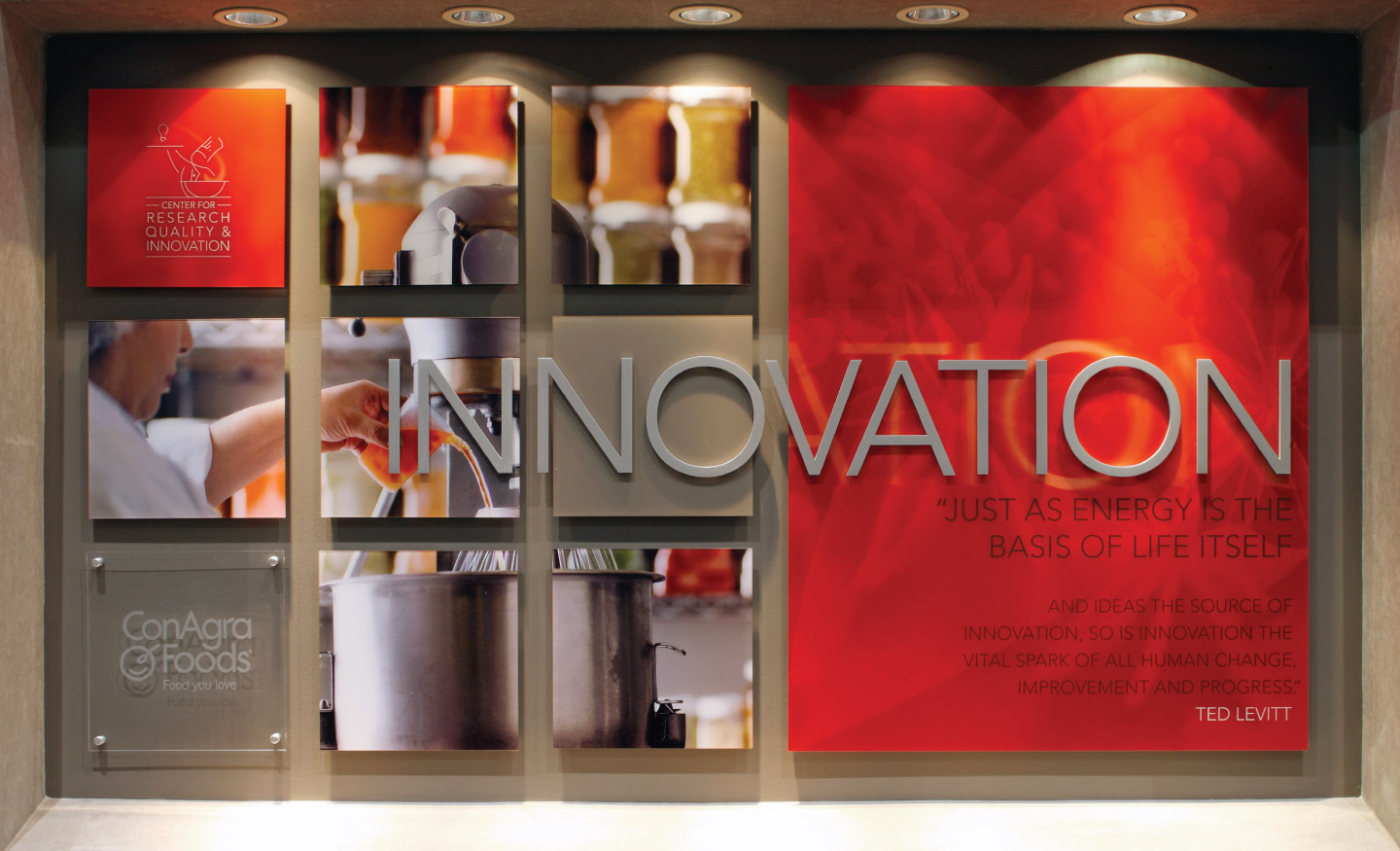 Internal communications signage for ConAgra Foods - Innovation theme