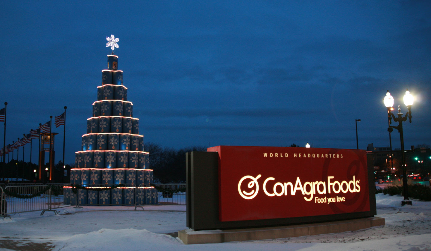 ConAgra Foods Child Hunger Barrel Tree