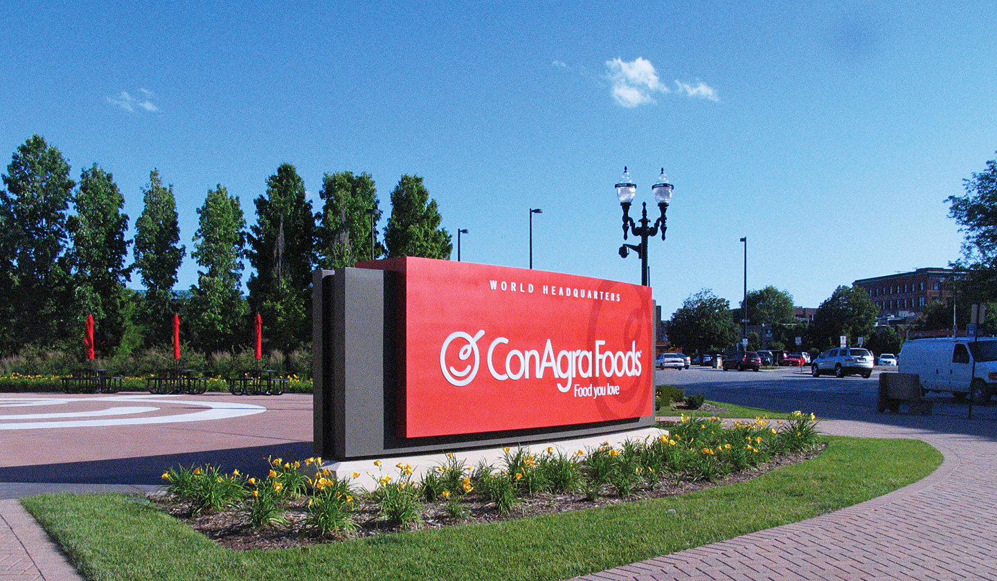 ConAgra Foods Corporate Campus Entry Sign