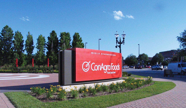ConAgra Foods Corporate Campus Entry Sign