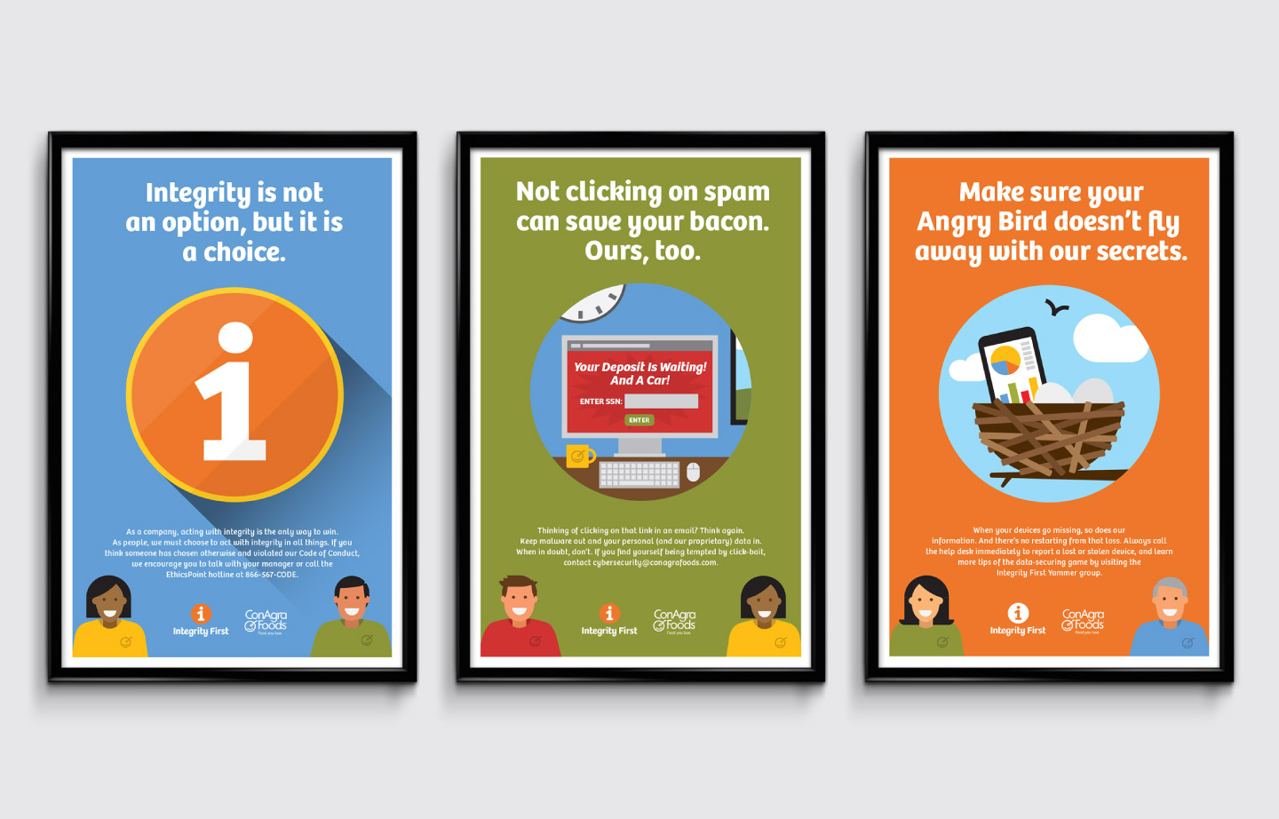 ConAgra Foods Integrity First Posters