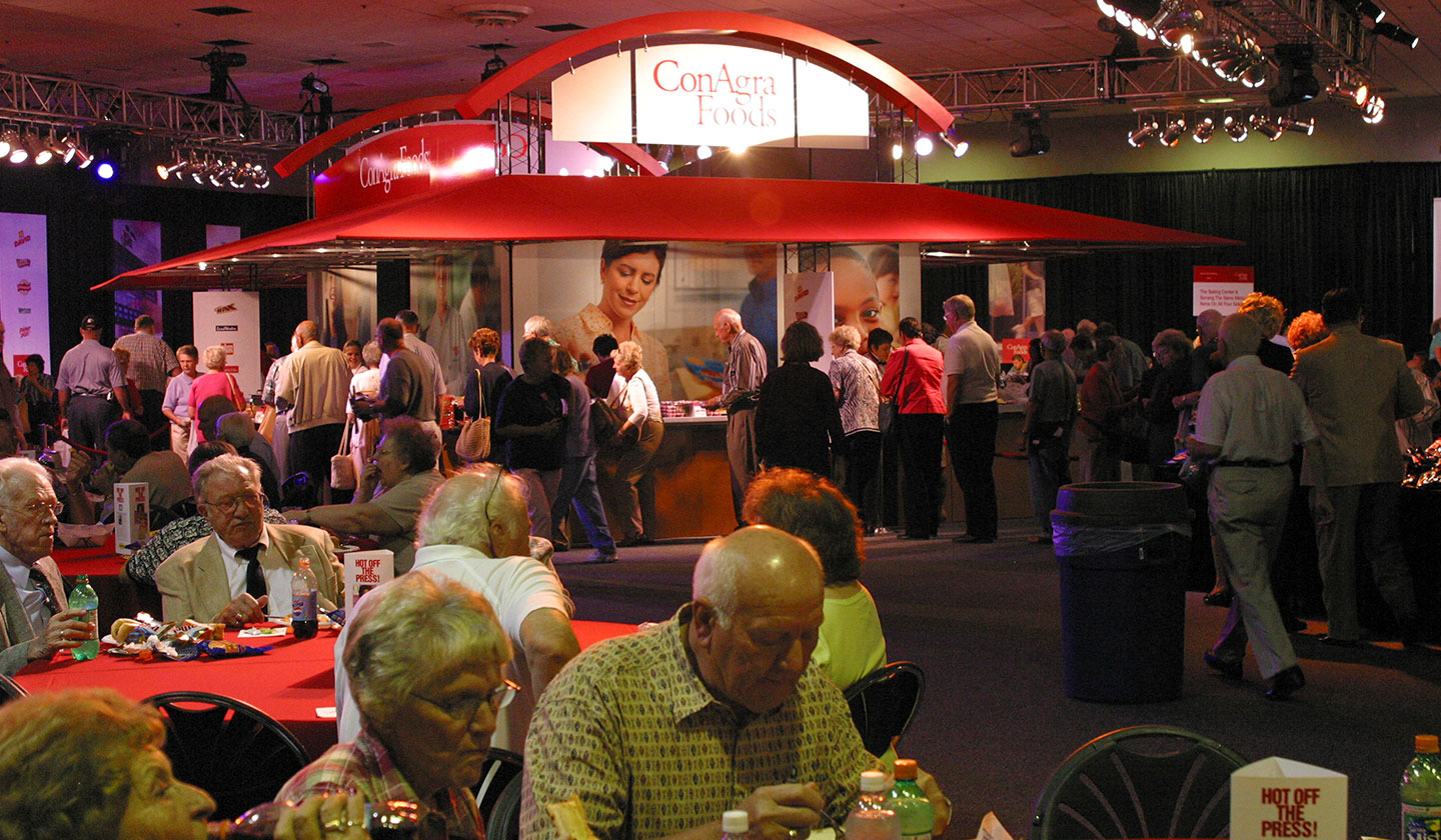 A booth designed for ConAgra Foods Shareholders
