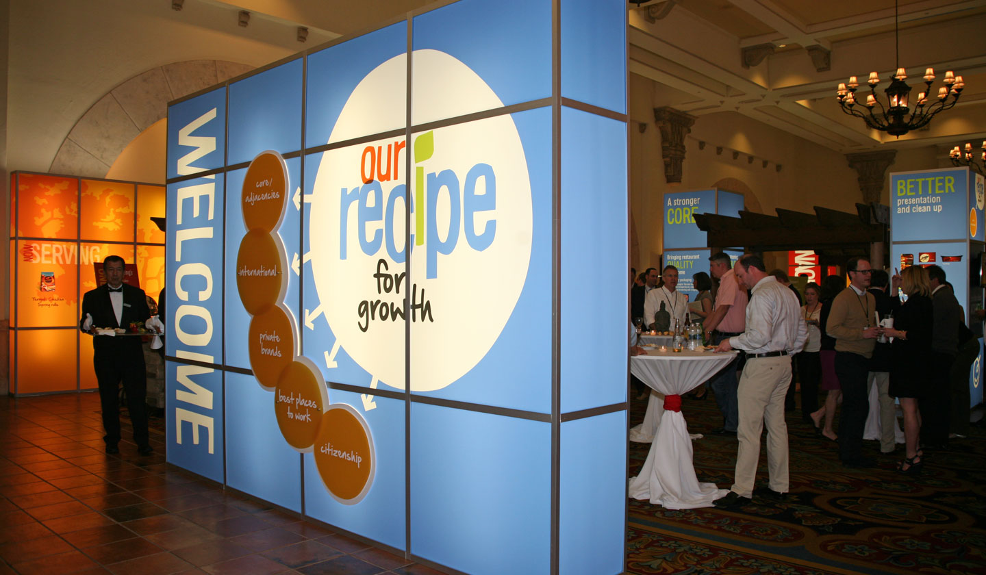 A backlit display for ConAgra Foods CAGNY