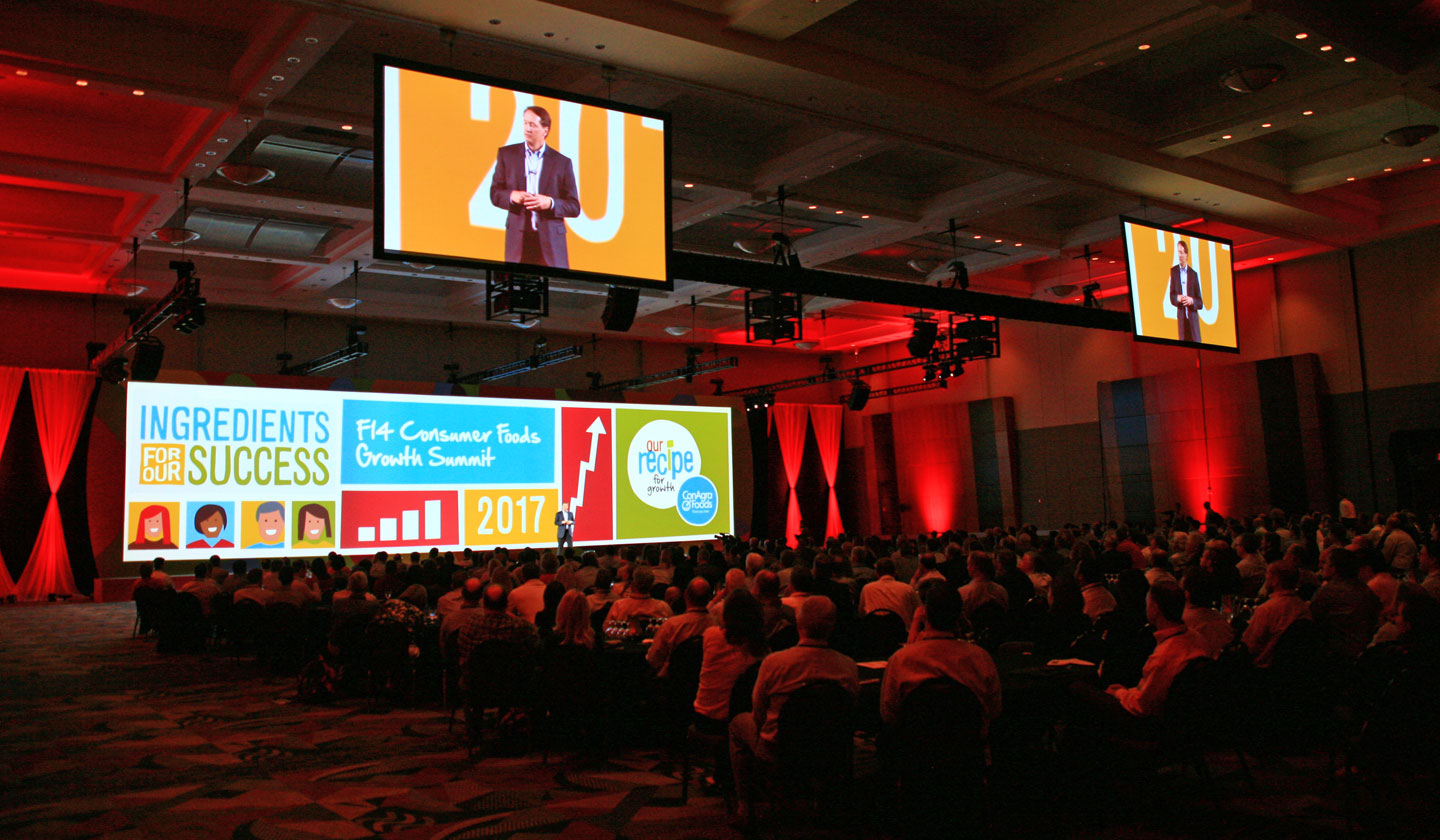 Graphics designed for a ConAgra Foods Sales Meeting