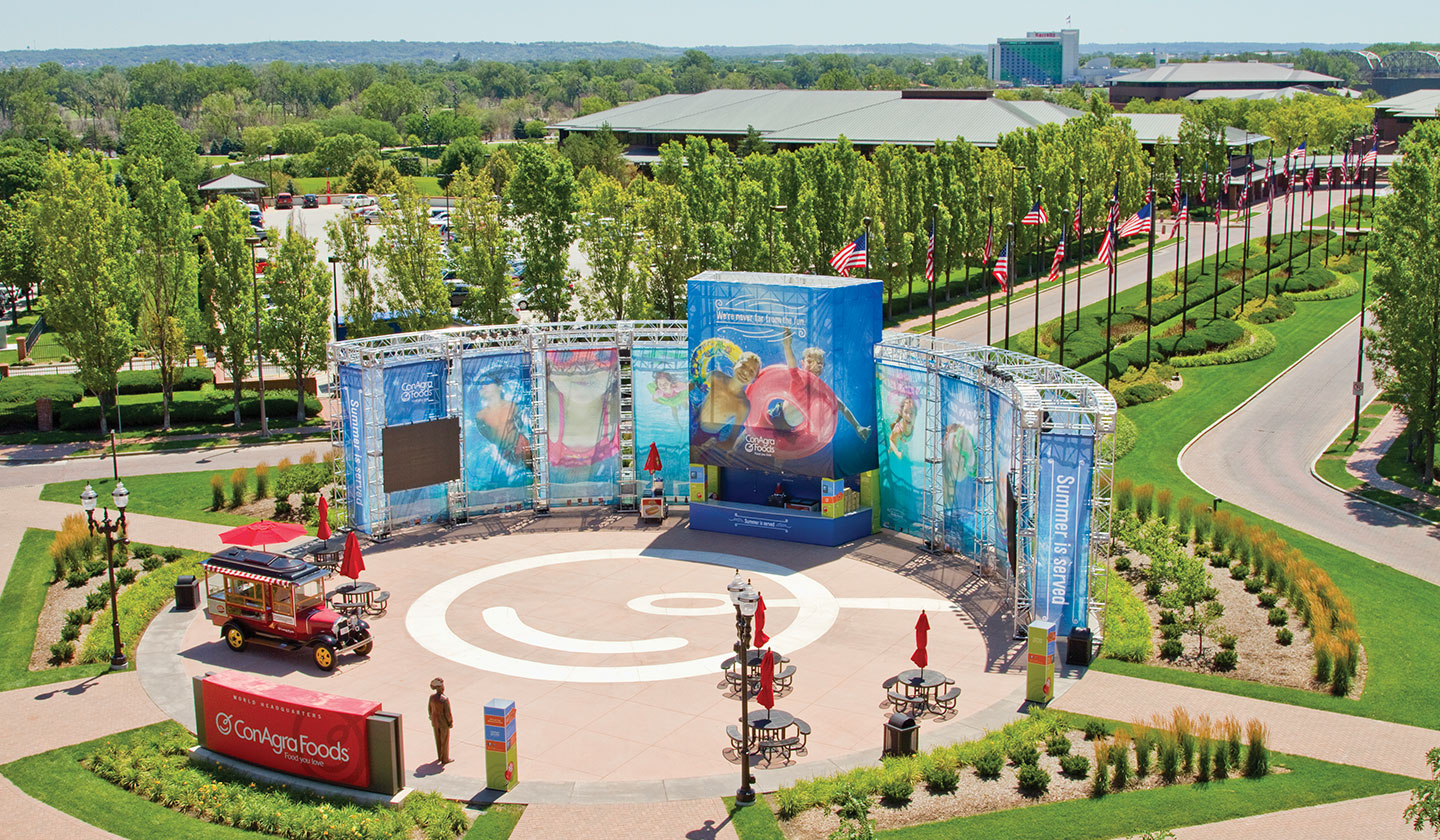 ConAgra Foods Swim Trials outdoor display