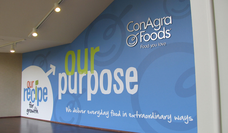 ConAgra Foods Recipe interior environmental graphics