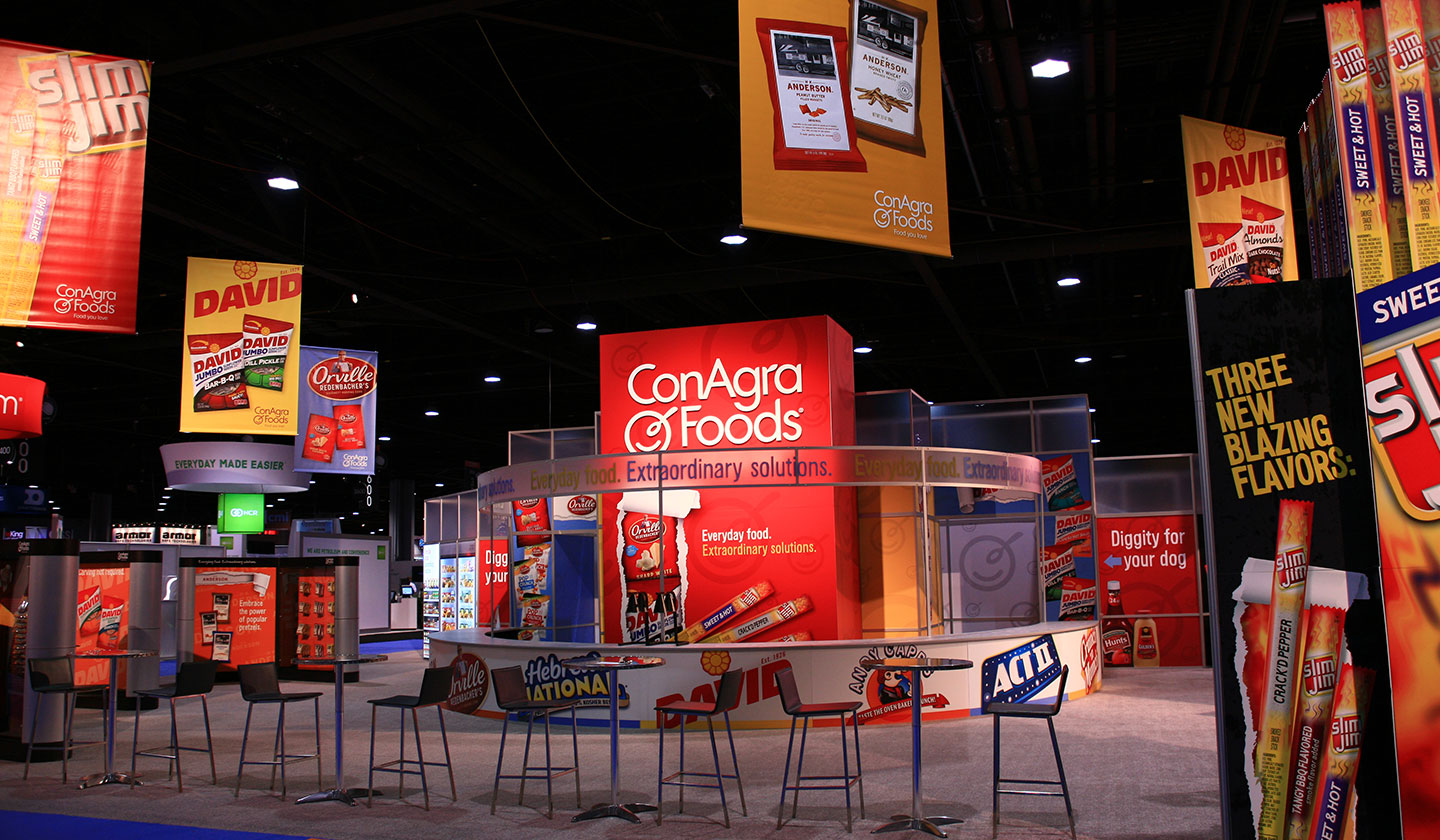 Booth designed for a ConAgra Foods Tradeshow