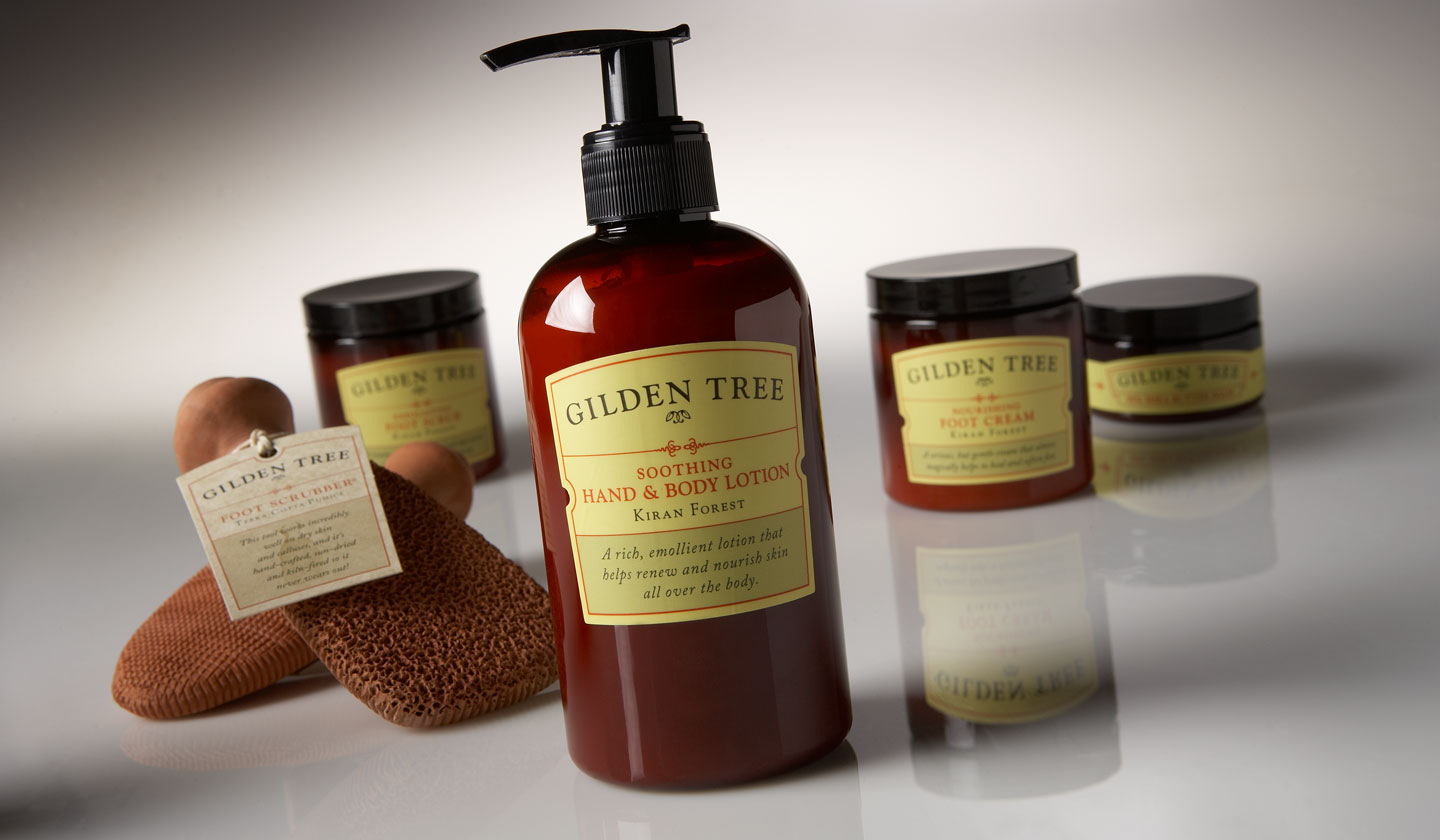 Assorted package design for Gilden Tree Products