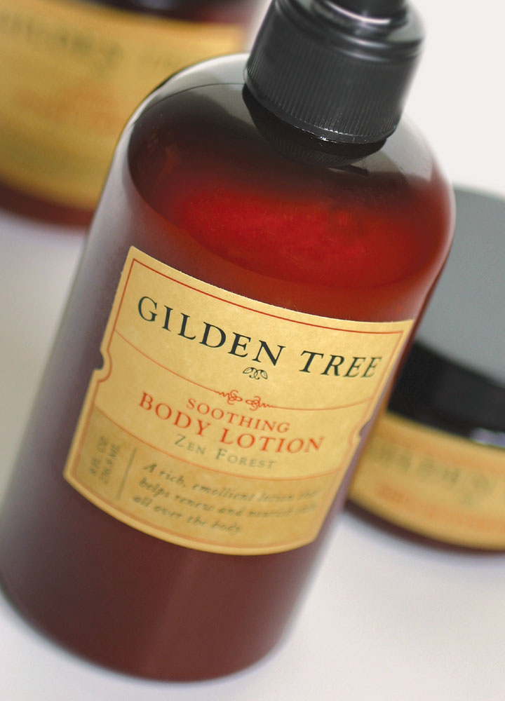 Gilden Tree Body Lotion bottle close-up