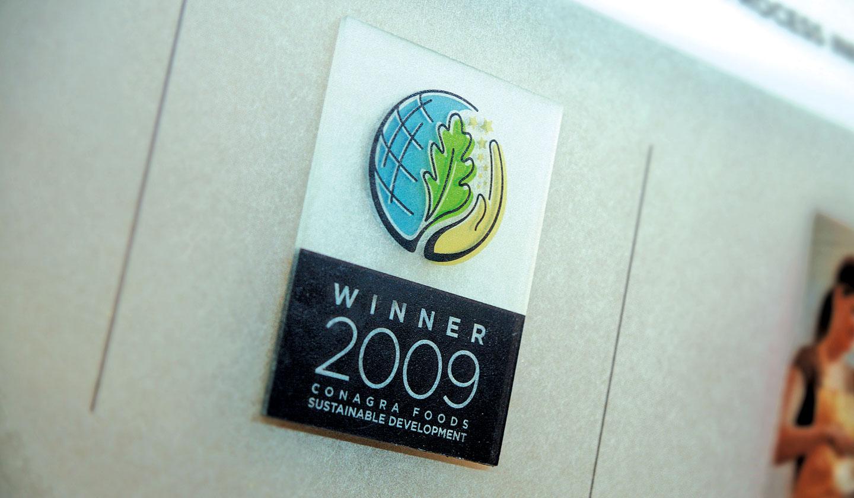ConAgra Foods Sustainable Development Display Close-up
