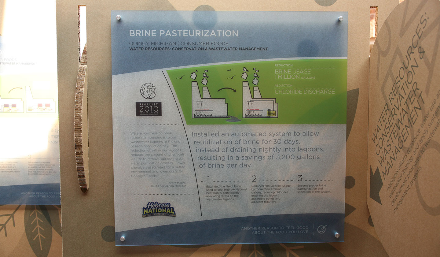 ConAgra Foods Sustainable Development Display Brine