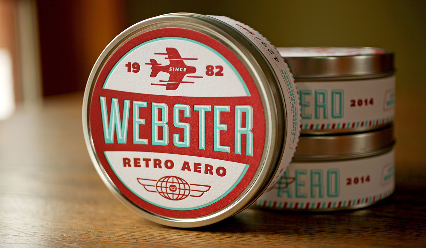 Webster Retro Aero tins