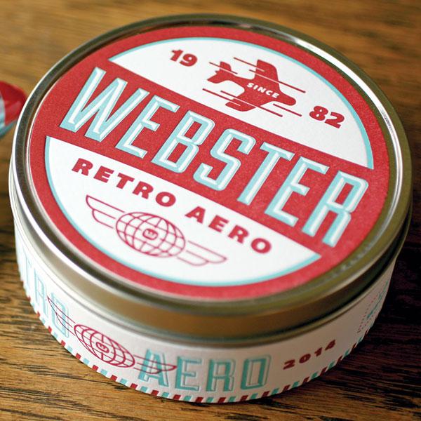Webster Retro Aero tin