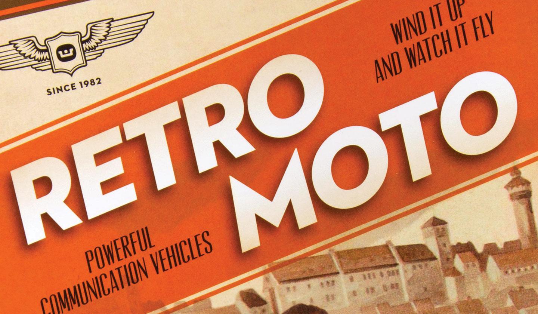 Webster Retro Moto closeup of type