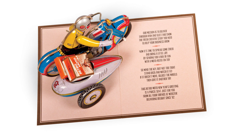 Webster Retro Moto card