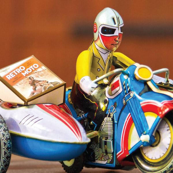 Webster Retro Moto tin toy