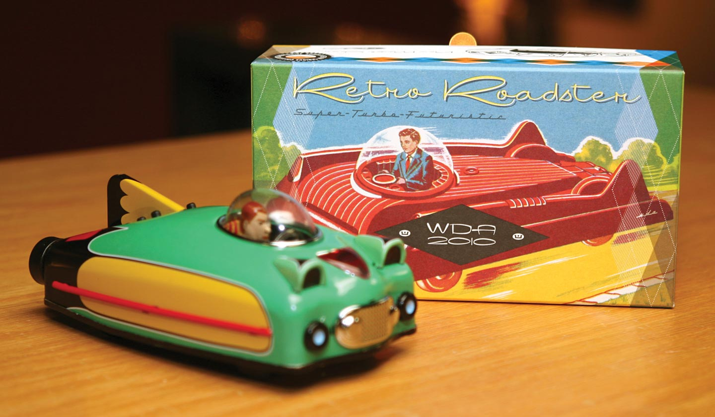 webster retro roadster toy and box