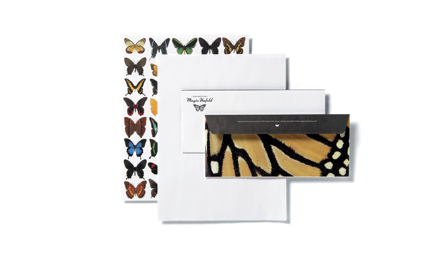 Omaha's Henry Doorly Zoo Butterfly Pavilion Stationery