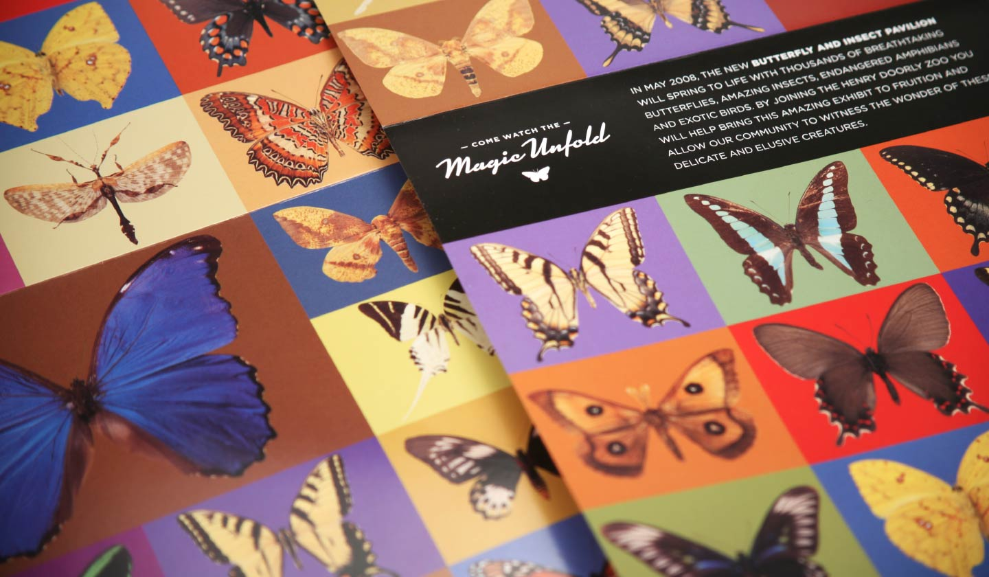 Omaha's Henry Doorly Zoo Butterfly Pavilion poster